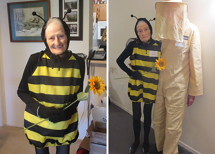 #2 An 88 Year Old Woman And Her 92 Year Old Husband Attend A Halloween Party