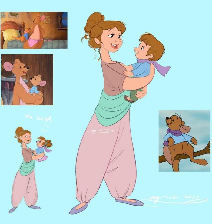 3. Kanga And Roo, From Winnie The Pooh