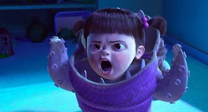 'For Monsters Inc. (2001) Due To Mary Gibbs Who Played Boo Being So Young, It Was Difficult To Get Her To Stay In The Recording Booth To Perform Her Lines. So They Decided To Follow Her Around With A Microphone And Cut Her Lines Together Using The Random Things/Noises She Say Whilst Playing.'