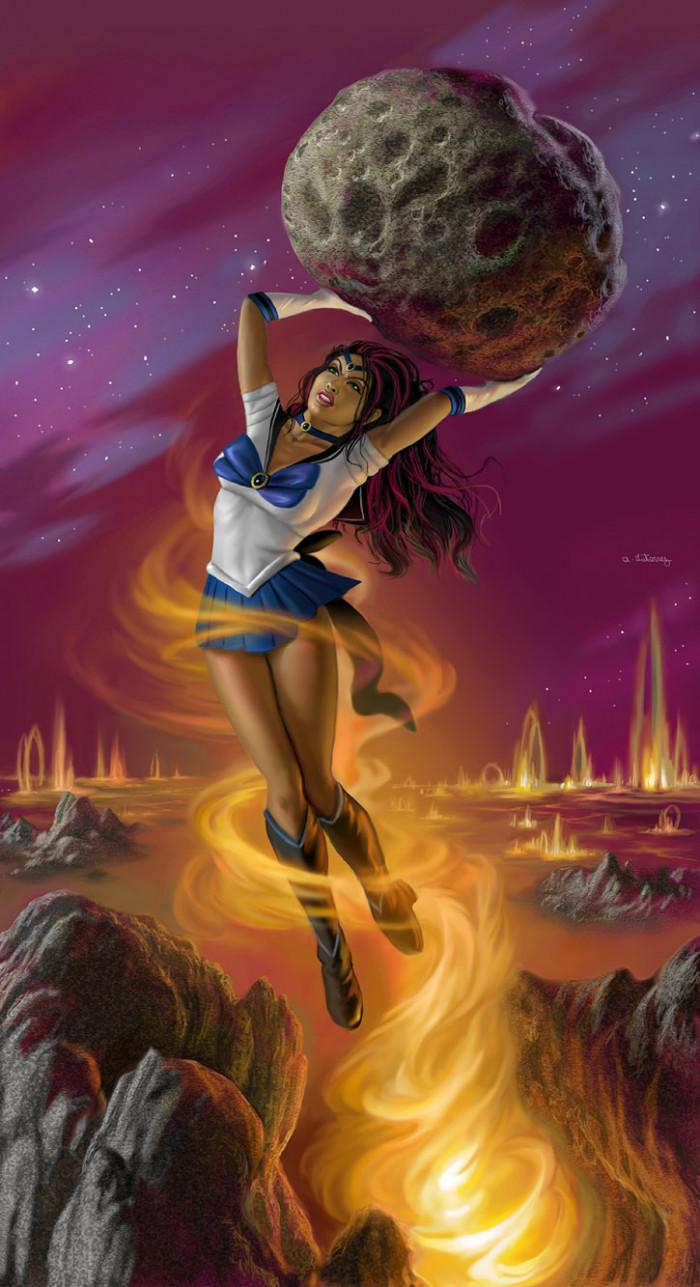 24. Sailor Titan (Titan is Saturn's largest moon)