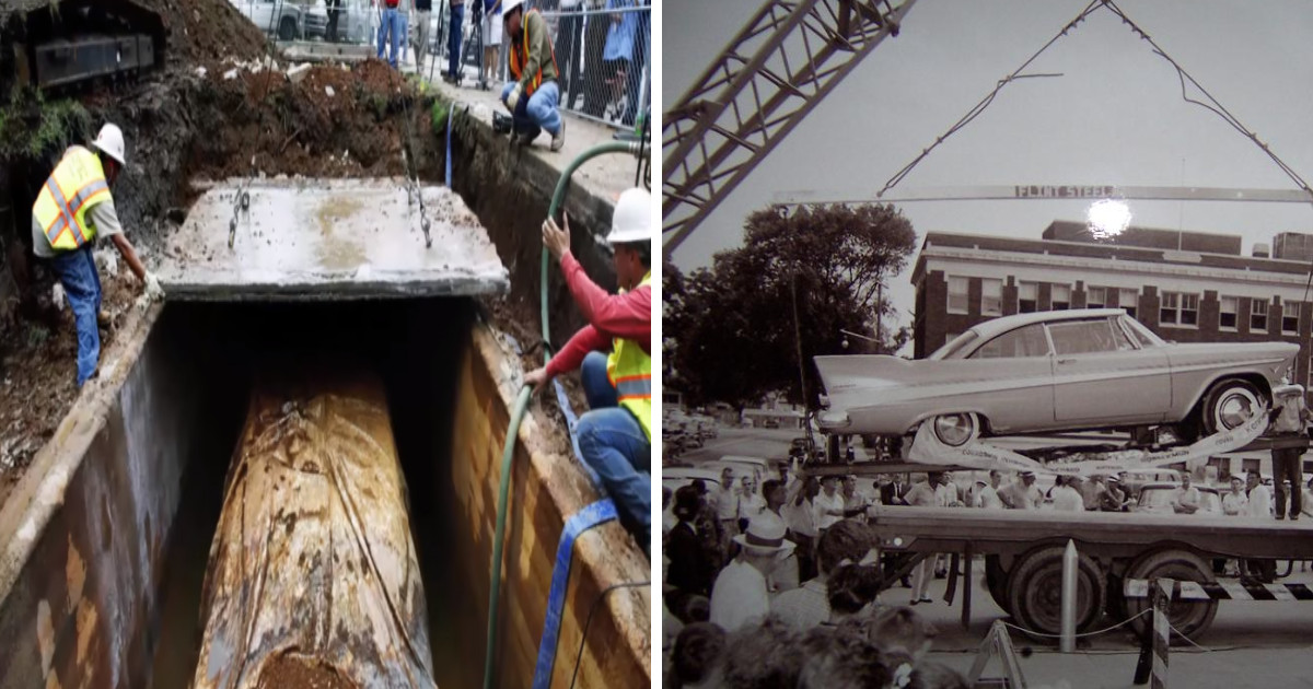 People Buried This Car As A Time Capsule To Be Opened In The Future And Now Nobody Wants It