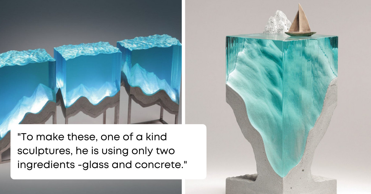 Created Only From Layered Glass These Amazing Sculptures Show Us The Beauty Of The Ocean And A Special Bond People Have With Nature