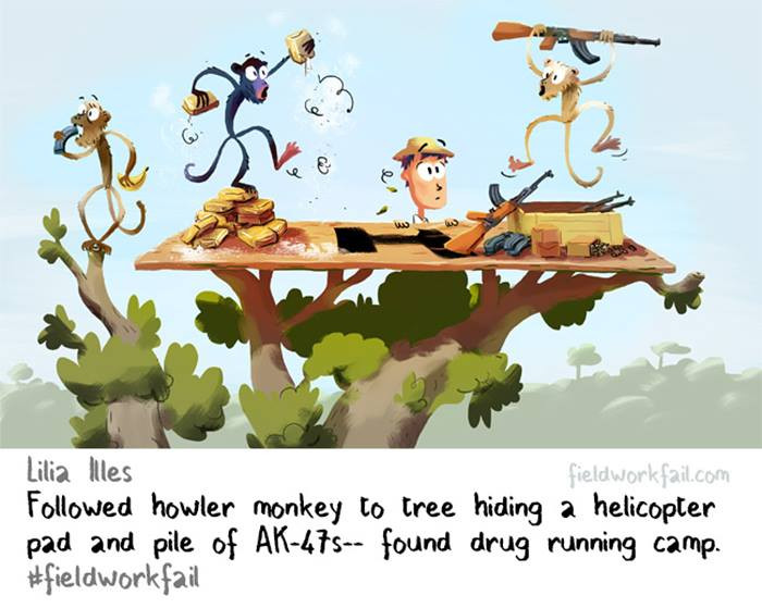 4. For a moment, I wondered why monkeys were stashing AK-47's.