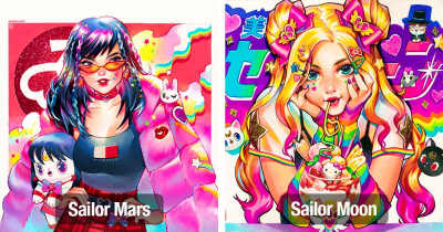 Sailor Moon Fan Art With A Colorful Twist And Nostalgia Of 90's