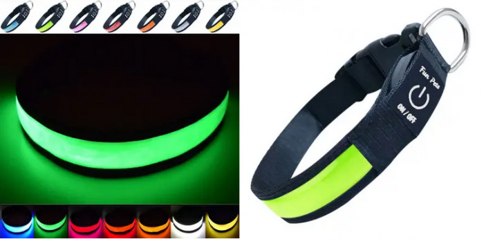 4. Rechargeable LED Collar