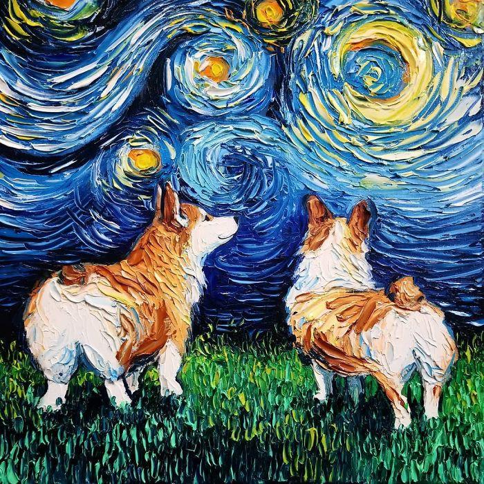She's got that Van Gogh thing.