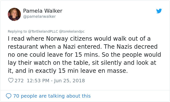 Other Twitter users had similar Nazi-related stories: