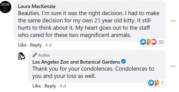 Condolences came flooding in