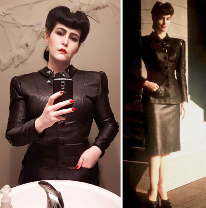 #41 I Figured This Year Was Perfect To Finally Become My Favourite Blade Runner Replicant, Rachael. I Used Six Shoulder Pads And A Sheet Of Plastic Canvas To Get The Jacket's Iconic Shape