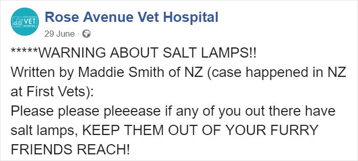 Here's Rose Avenue Vet Hospital post about this issue.