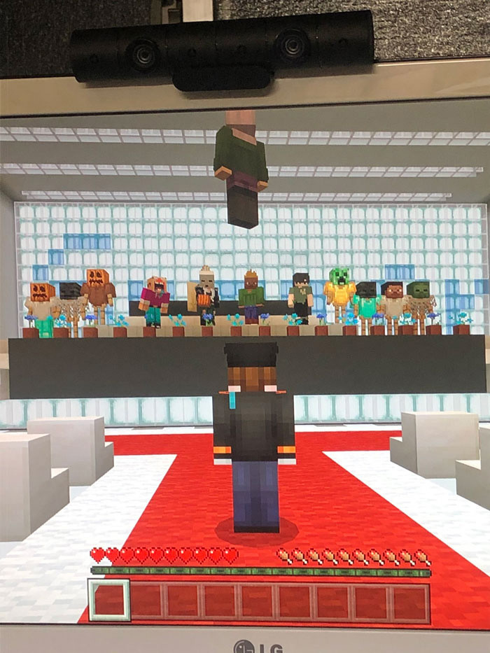 They decided they would have their graduation ceremony in the digital realm. In Minecraft.