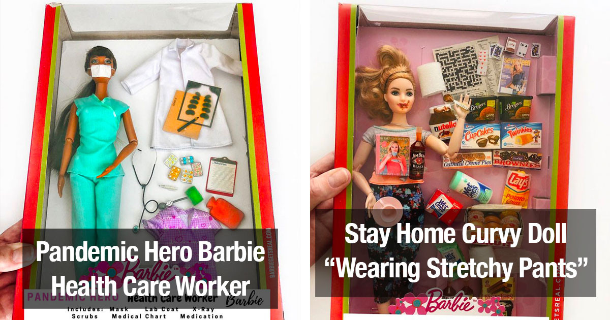 Woman Designs Quarantine-Themed Barbie Dolls That Perfectly Reflect What We're Going Through Right Now