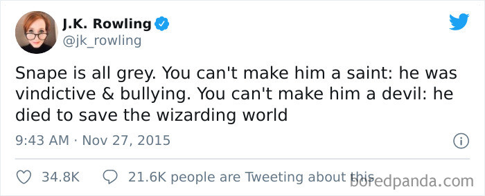 From the words of JKR herself...