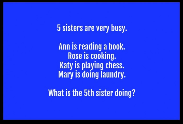 Question #3. Sisters