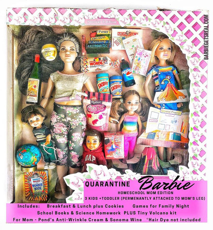 6. Quarantine Barbie – Homeschool Mom Edition