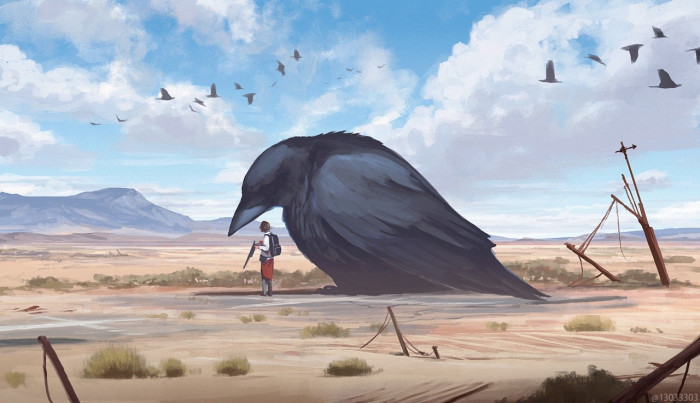 How cool would it be to have a giant bird companion?