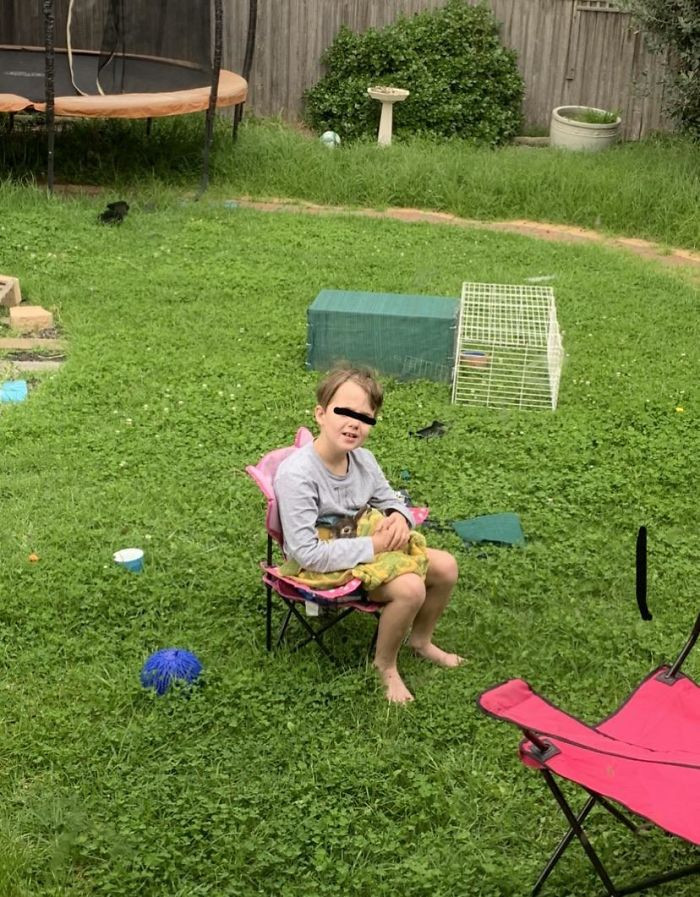 7. My Son, 8, Who Happens To Have Autism Got A Bunny. He Sits Outside With The Bunny For Hours. His Echolalia Stops. His Stimming Stops. He Is Calm, Focused And Happy