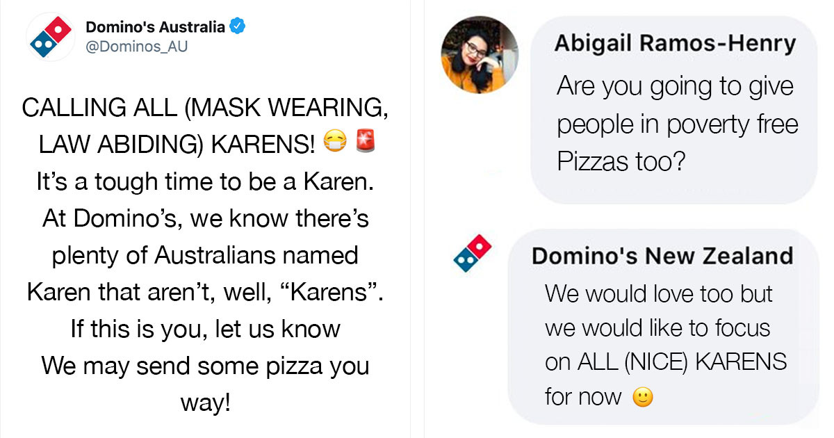 """Domino's PR Stunt To Celebrate """"Good Karens"""" By Giving Them Free Pizza Backfires Brutally"""