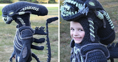 Woman Crochets Halloween Costumes For Her Kids, And They're Epic