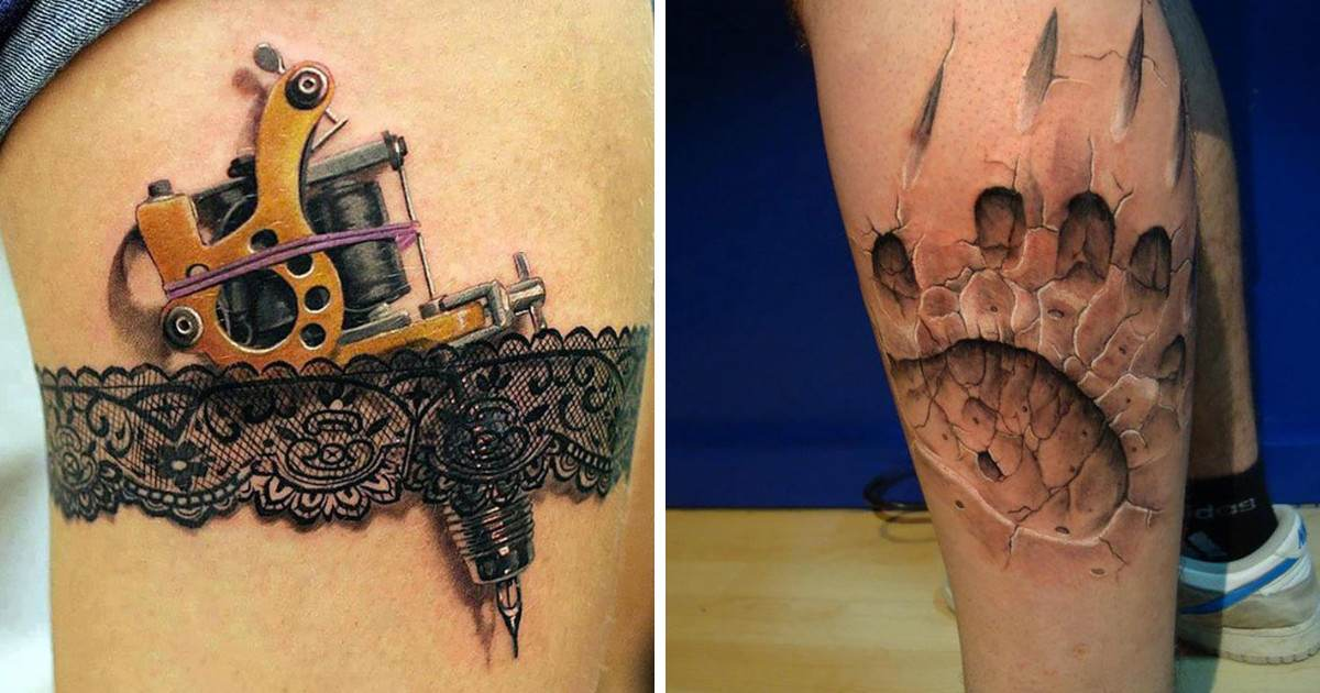 3D Tattoos That Looks So Real That They'll Have You Doing A Double Take