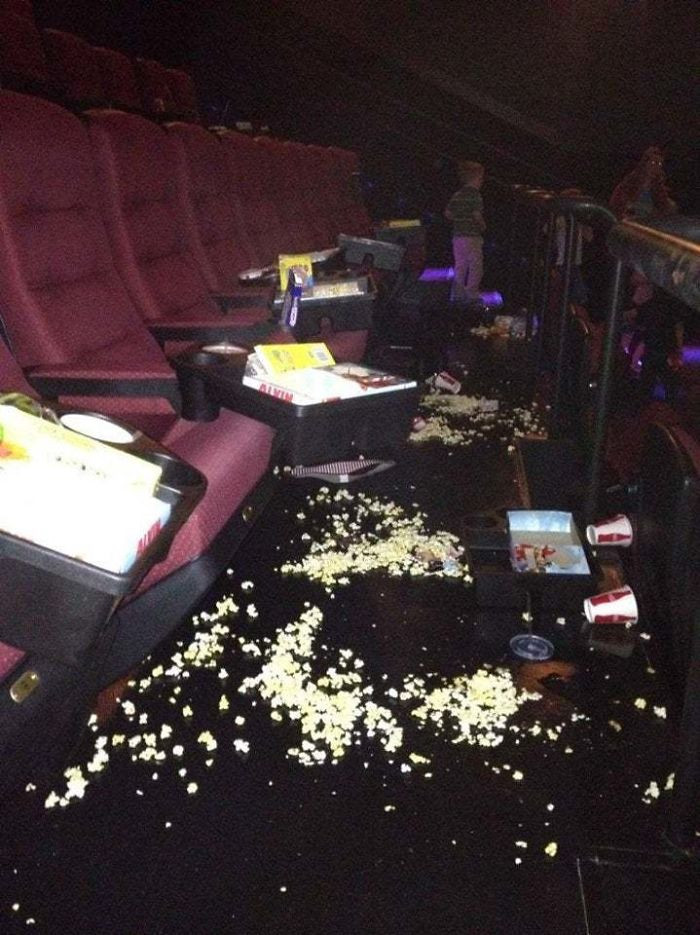 #4 Who Leaves The Cinema Like This?