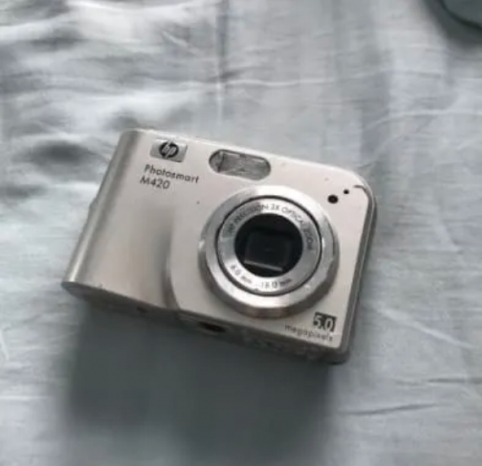4. You took a photo with a digital camera. TBH I still have a digital camera...