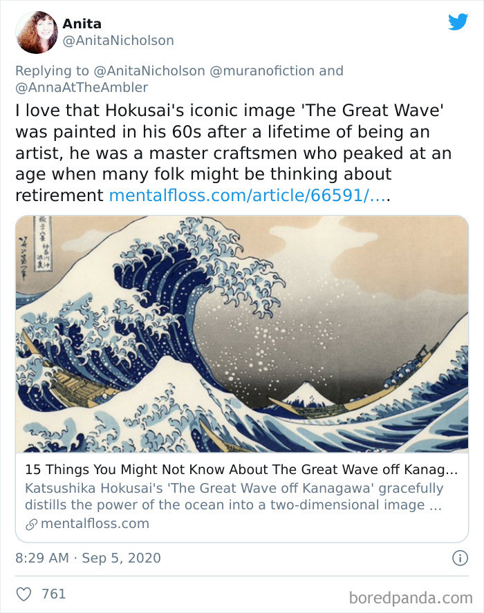 'The Great Wave' was painted after 60!