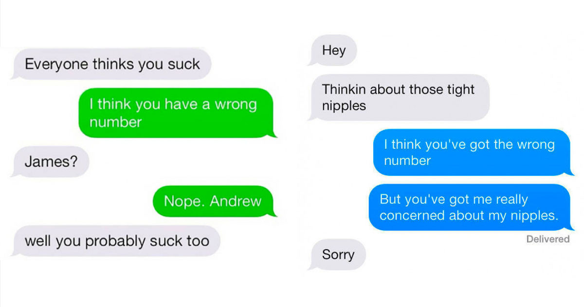 People Shared Their Screenshots After They Accidentally Texted A Wrong Number