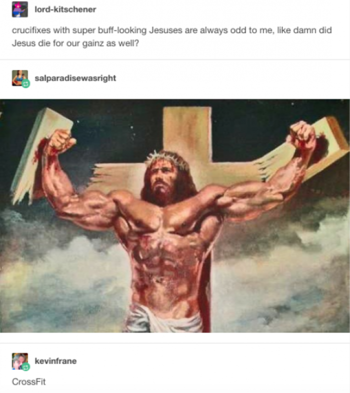 died for our gainz