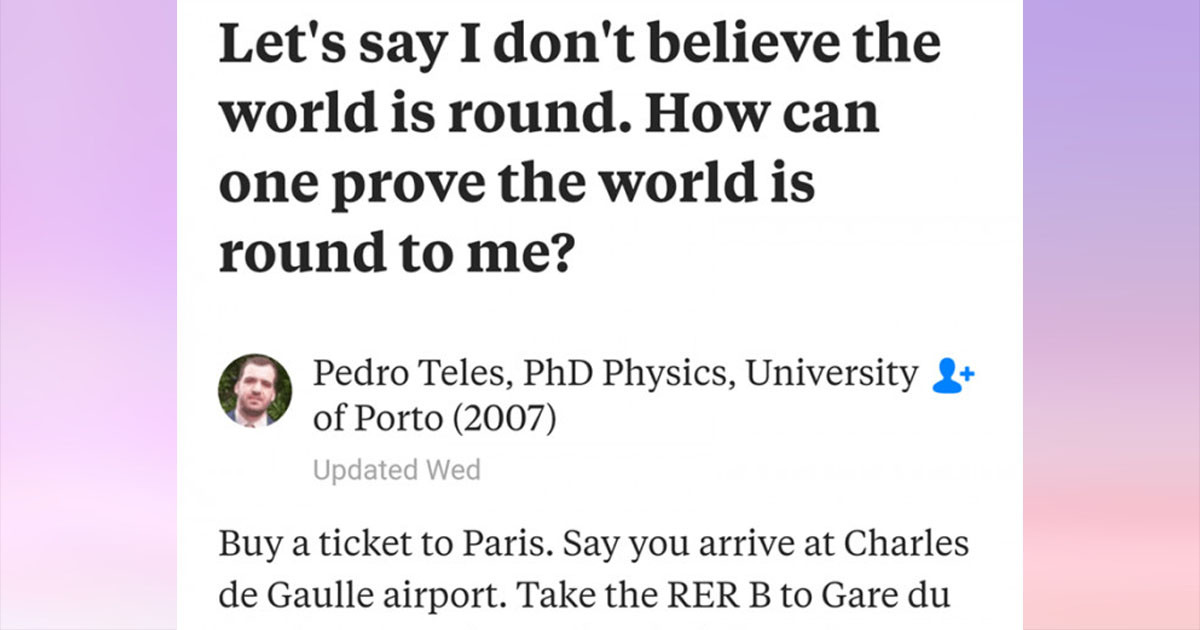 Flat Earthers Get Wrecked By Physics Again Despite Trying To Prove That The Earth Isn't Round