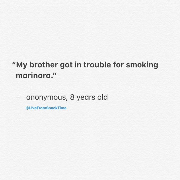 #39 I hate when I smoke too much marinara...