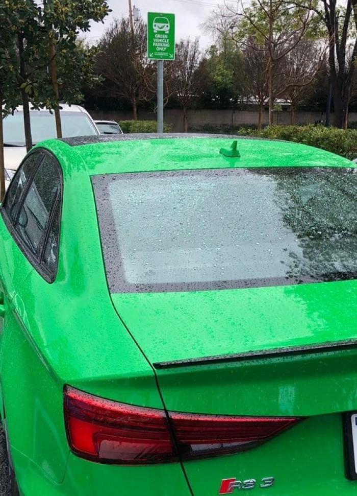 Green pettiness...
