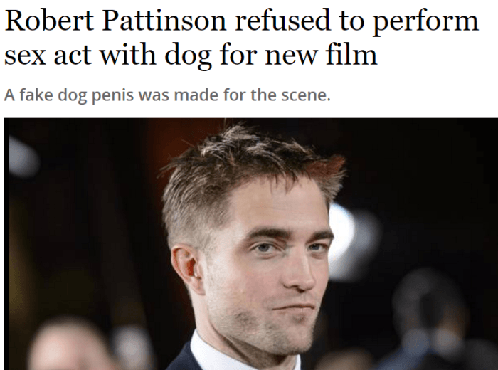 21. Can you blame Robert Pattinson for this?