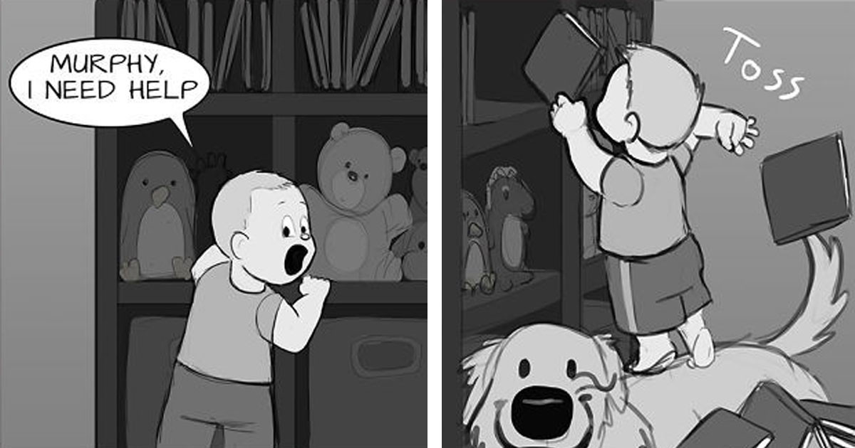 These Adorable Comics About The Friendship Between A Dog And A Baby Are Too Easy To Relate To