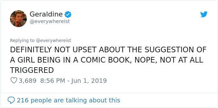 Geraldine did not back down.