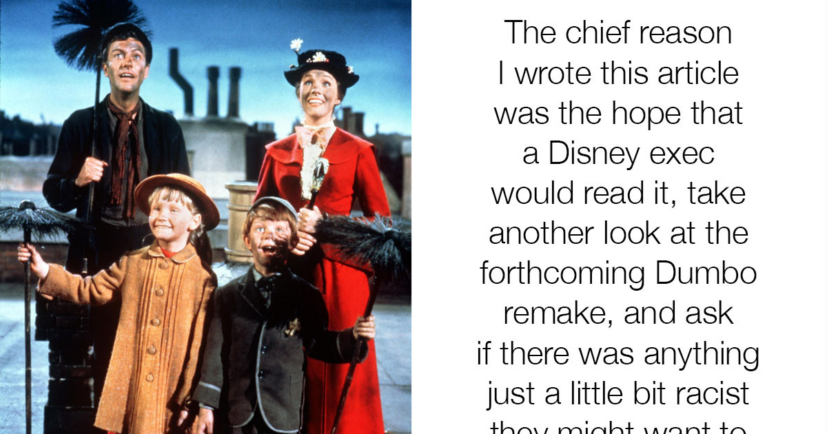 "People Are Claiming That Mary Poppins Was Actually A Racist Film Due To A ""Black Face"" Scene"