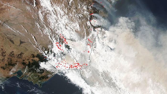 The smoke plume can now be compared to the size of half of Europe.