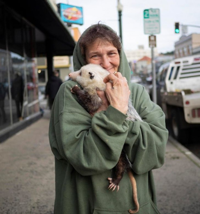 """10. """"I met a woman with a possum and a beautifully sincere smile."""""""