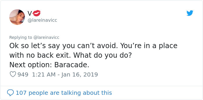 So what if you can't escape? Next option: Barricade.