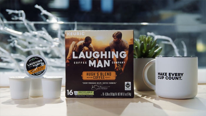 And bring attention to Jackman's Laughing Man Coffee.