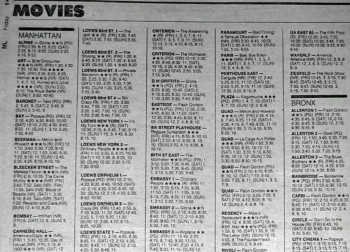 3. You looked up movie times, in the paper!