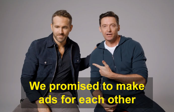 And promising to make ads for each other's companies.