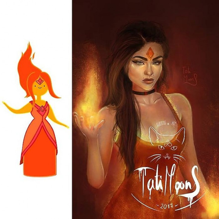 12. Flame Princess From Adventure Time