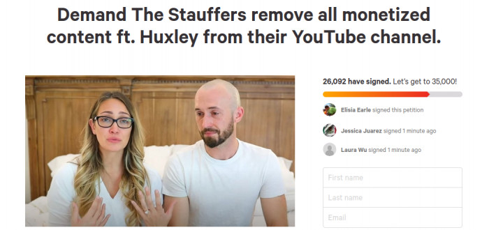 Cancel the Stauffers even launched a petition.