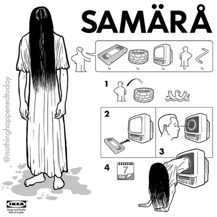 1. Behold, the ridiculously creepy, Samara.