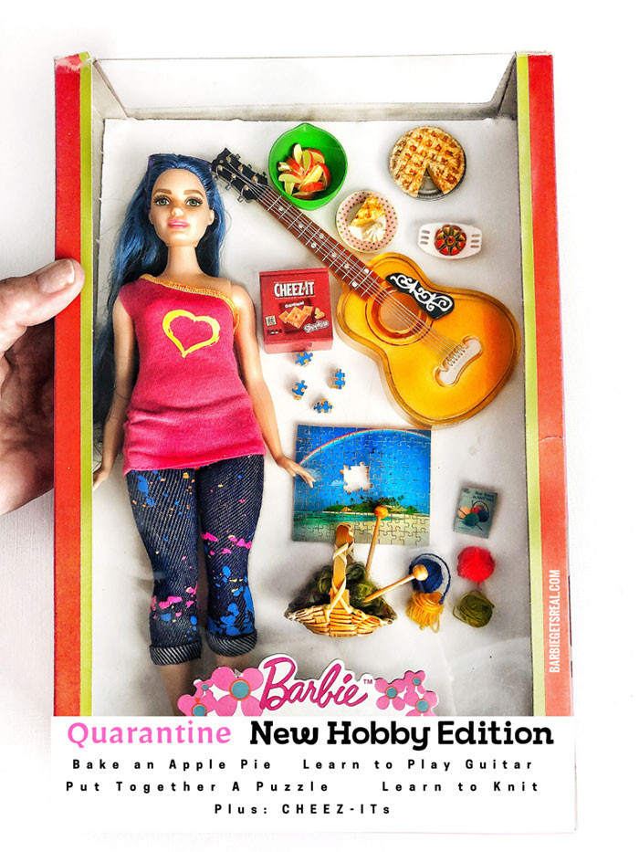 8. Quarantine Barbie Doll – New Hobby Edition