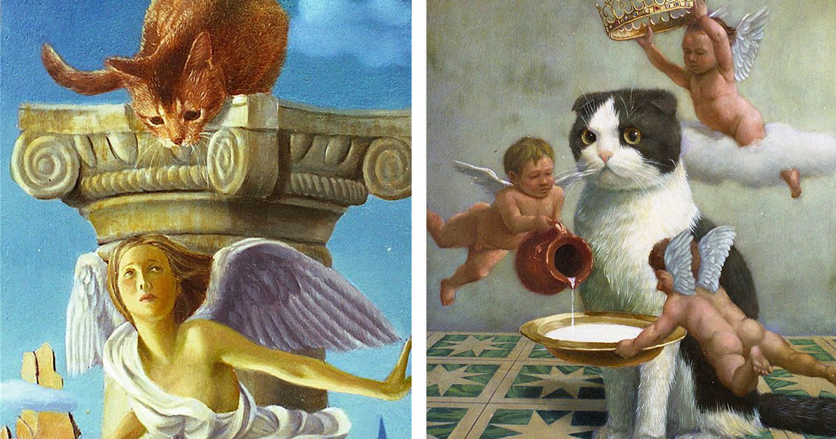 Artist Captures The Beauty Of Cats In These Magical And Royal Oil Paintings