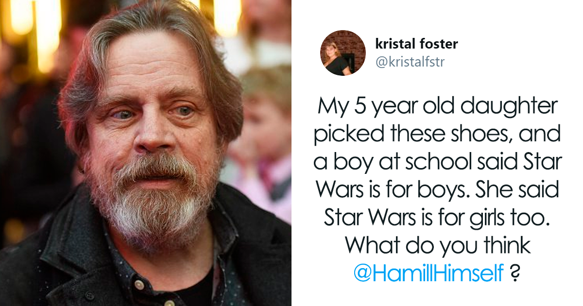 Mom Tweets About How Her 5-Year-Old Daughter Was Told That Star Wars Is Not For Girls, And Mark Hamill Had Something To Say About That