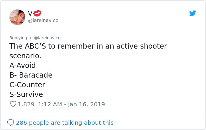 That being said, the fact the workplaces are teaching their employees about shooter training is a sad, but much needed reality.