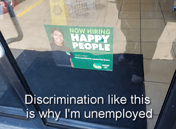 Maybe this is why the unemployment rate is so high? Or maybe it's because the economy is shot and jobs only pay poverty wages